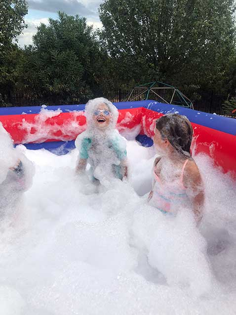 Foam Party for kids, best birthday ever - fun