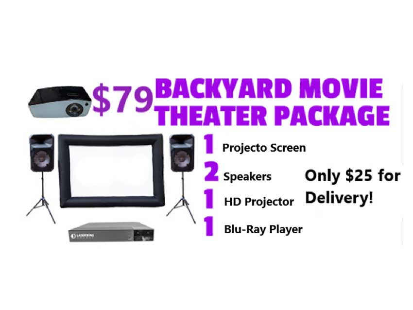 Fun Party Packs from Freedom Fun USA - Backyard Movie Theater
