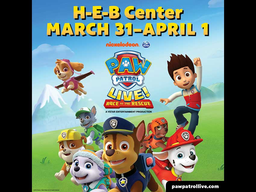 Paw Patrol Live! Race to the Rescue! At H-E-B Center Cedar Park