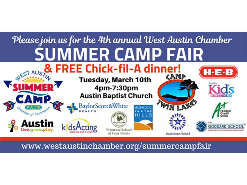 West Austin Chamber of Commerce Summer Camp Fair 2020