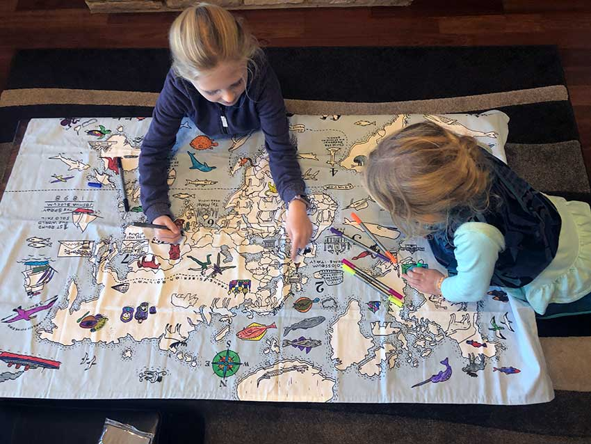 eatsleepdoodle world map tablecloth